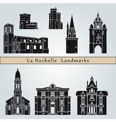 La Rochelle landmarks and monuments vector image