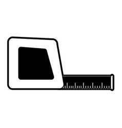 measuring tape icon image vector image