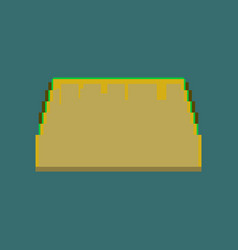 pixel icon in flat style tacos vector image vector image