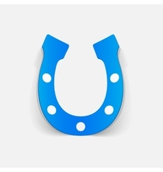 Realistic design element horseshoe vector