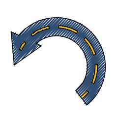 Return arrow symbol vector