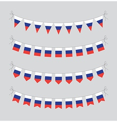 russian bunting vector image vector image