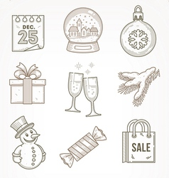 Set of Christmas signs and symbols vector image vector image
