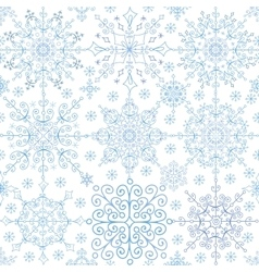 Snowflakes lace seamless patternChristmasNew vector image vector image
