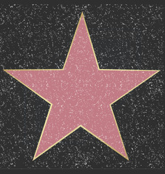 star with black background vector image vector image