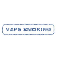 Vape smoking textile stamp vector
