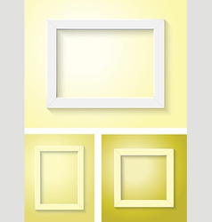 white and yellow frame set vector image vector image