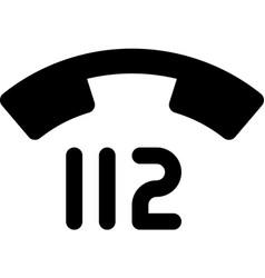 112 - emergency telephone number vector
