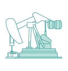 Oil pump silhouette vector