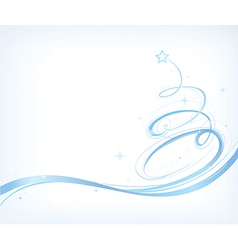 Stylised Chirstmas card vector image