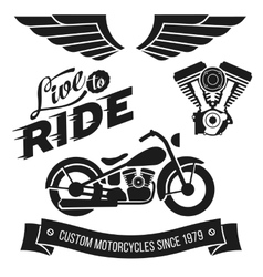 Vintage motorcycle design vector
