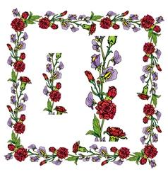 flower frame 3 380 vector image