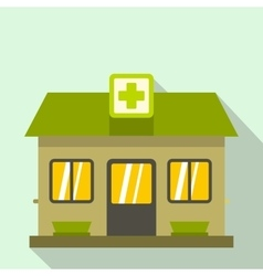Hospital building icon flat style vector