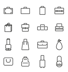 Thin line icons - bag vector