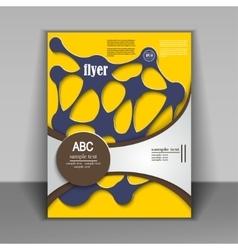 abstract brochure design vector image