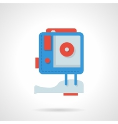 Action camera flat color design icon vector
