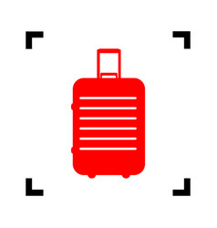 Baggage sign red icon inside vector