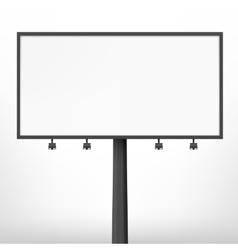 Blank black billboard vector image vector image
