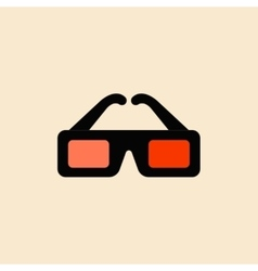 Cinema spectacles in flat vector