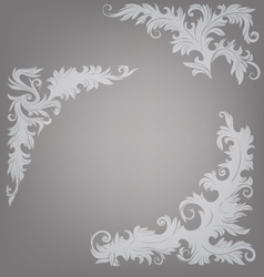Corner element ornate decorated baroque roccoco vector