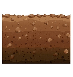 Different layers of soil vector image