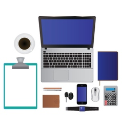Elements for design Laptop Smartphone Pencil Etc vector image