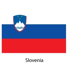 Flag of the country slovenia vector