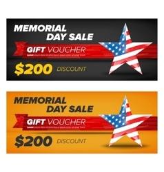 Gift voucher design memorial day sale vector