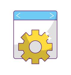 Isolated website design vector