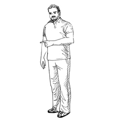 Man showing something vector