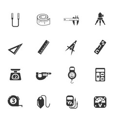 Measuring tools icon set vector