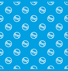 no horn traffic sign pattern seamless blue vector image vector image