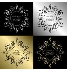 Ornamental vintage emblem or label vector image vector image
