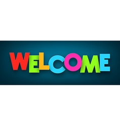 Paper welcome sign vector