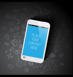 Realistic smartphone template with background vector