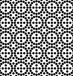 Repeating black and white circle pattern vector