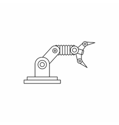 Robotic hand manipulator icon outline style vector