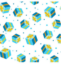 seamless background pattern with gift vector image