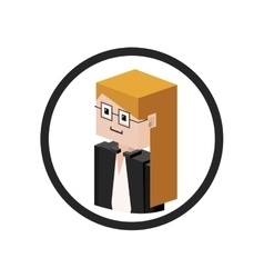 Secretary isometric avatar vector