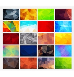 set of colorful abstract backgrounds polygonal vector image