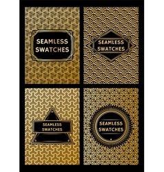 set of luxury geometric patterns for the premium vector image vector image