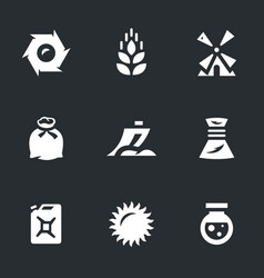 set of wheat icons vector image vector image