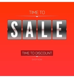 Time to discounts vector image vector image