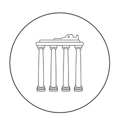 Turkish ruins icon in outline style isolated on vector
