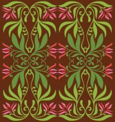 vintage flower decoration vector image