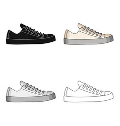 white sneakers unisex lace up shoes for sports vector image vector image
