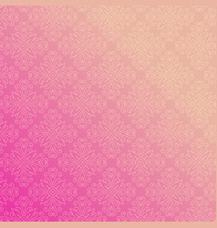 pink background with floral ornamental vector image