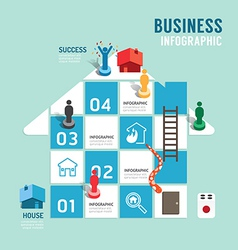 Business board game concept infographic vector