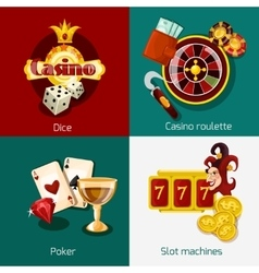 Casino concept set vector