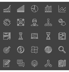 Business strategy plan icons set vector